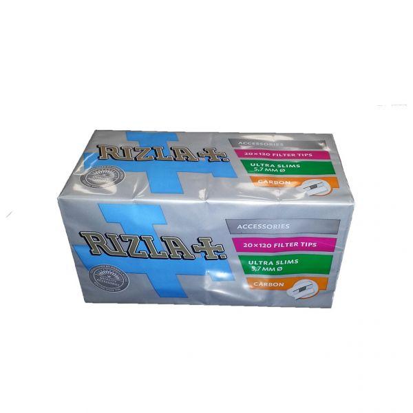 RIZLA FILTRI ULTRA SLIM 5,7mm CARBONI ATTIVI CHARACOAL - BOX 20 SCATOLE DA 120 FILTRI