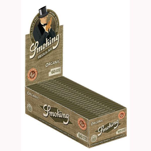CARTINE CORTE SMOKING REGULAR ORGANIC 100% CANAPA BIO - BOX 50 LIBRETTI