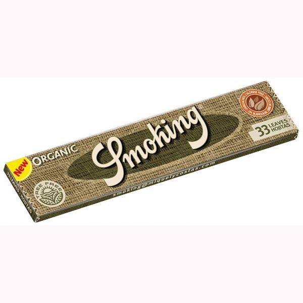 CARTINE LUNGHE SMOKING KING SIZE SLIM ORGANIC 100% CANAPA BIO - BOX 50 LIBRETTI