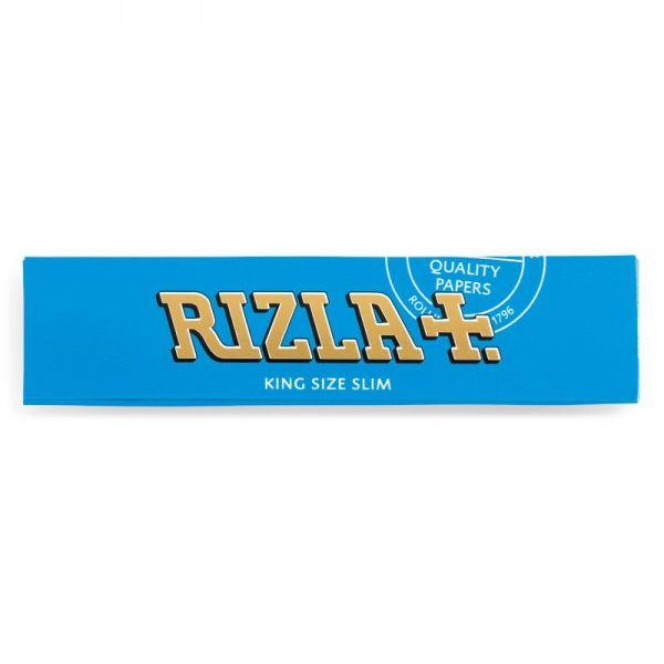 CARTINE RIZLA BLU KING SIZE SLIM LUNGHE - BOX DA 50 LIBRETTI