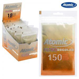 ATOMIC FILTRI SLIM 6mm IN BUSTA - BOX 18 BUSTE DA 250 FILTRI