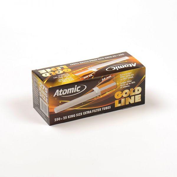 ATOMIC TUBETTI CON FILTRO EXTRA LUNGO - BOX 275 SIGARETTE VUOTE
