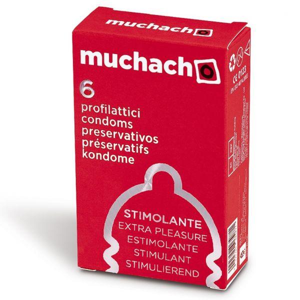 PROFILATTICI MUCHACHO EXTRA PLEASURE STIMOLANTE 6 PZ