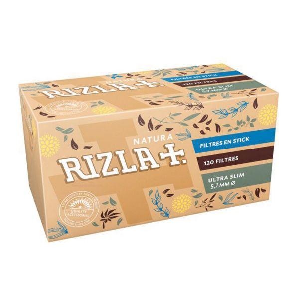 FILTRI RIZLA NATURA ULTRA SLIM POPPATIPS - BOX 20 SCATOLINE DA 120
