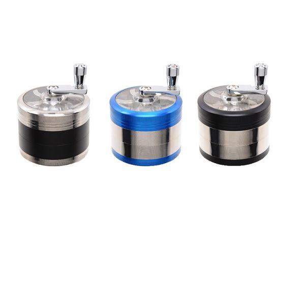 ATOMIC TRITATABACCO GRINDER MILL CON MANOVELLA 4 PARTI IN METALLO DIAMETRO 60mm