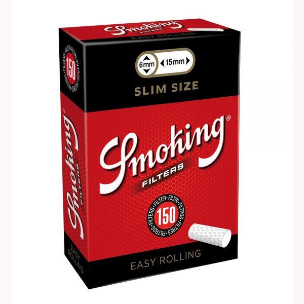 Smoking Slim 6mm Easy Rolling - Box 5 Scatoline da 150 Filtri