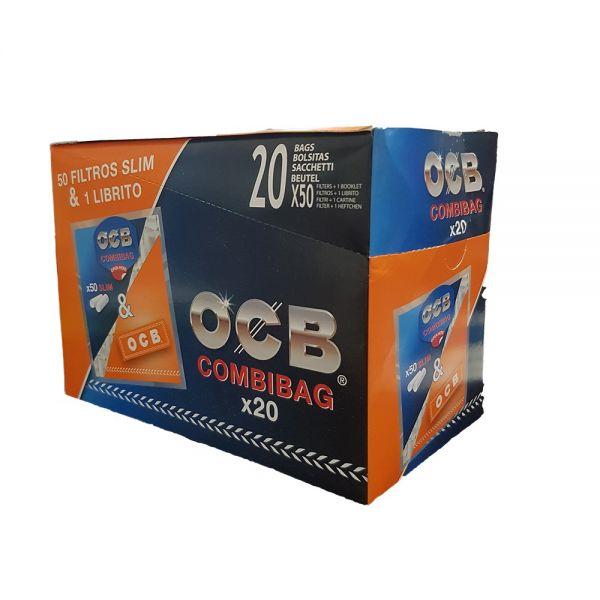OCB COMBIBAG 50 FILTRI SLIM + 1 LIBRETTO DI CARTINE OCB ORANGE