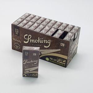 SMOKING FILTRI BROWN BIODEGRADABILI ULTRA SLIM 5,7 mm - BOX 20 SCATOLINE DA 120 FILTRI