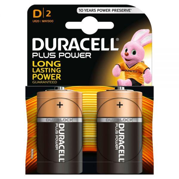 DURACELL BATTERIE ALCALINE PLUS POWER D2 TORCIA - BLISTER 2 BATTERIE