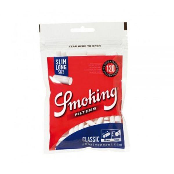 FILTRI SMOKING SLIM 6mm SLIM LONG SIZE EXTRA LUNGHI - BUSTINA SINGOLA DA 120 FILTRI