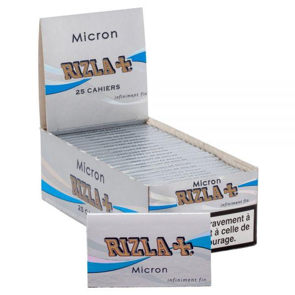CARTINE RIZLA MICRON DOPPIE CORTE SCATOLA DA 25 LIBRETTI - 100 CARTINE PER LIBRETTO