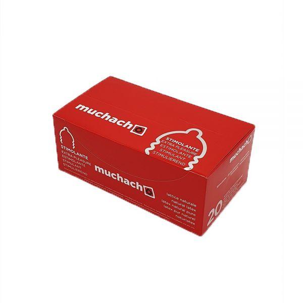 PROFILATTICI MUCHACHO EXTRA PLEASURE STIMOLANTE - BOX DA 20 PACCHETTI DA 6 PZ