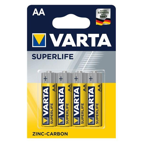 VARTA BATTERIE SUPERLIFE 2006 101 414 - AA R6P MIGNON - 1,5 V - BLISTER 4 BATTERIE