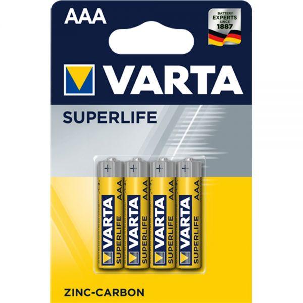 VARTA BATTERIE SUPERLIFE 2003 101 414 - AAA R03 MICRO - 1,5 V - BLISTER 4 BATTERIE