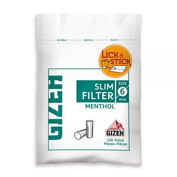 Gizeh Filtri Slim 6 mm Mentolo - 1 Bustina da 120 Filtri