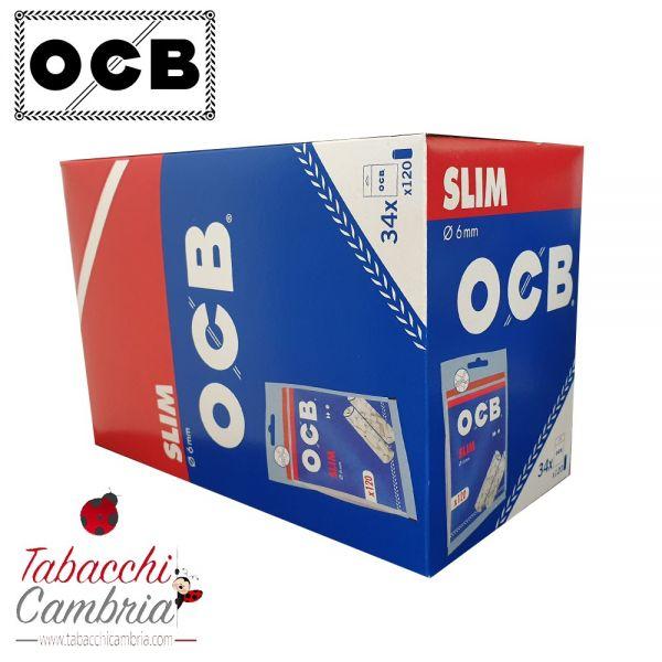 OCB Filtri Slim 6 mm - Box 34 Bustine da 120 Filtri