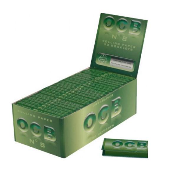 CARTINE OCB N° 8 VERDI CORTE ECOLOGICHE - BOX 50 LIBRETTI