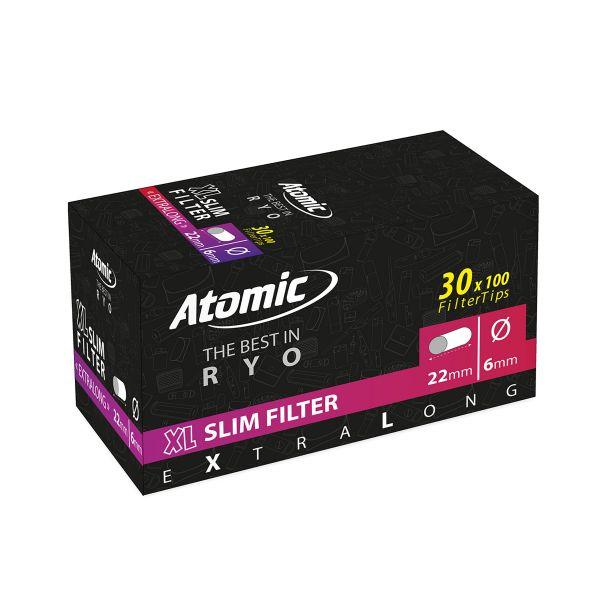 Atomic Filtri Slim XL ø 6 x 22 mm Polybag - Box 30 Bustine