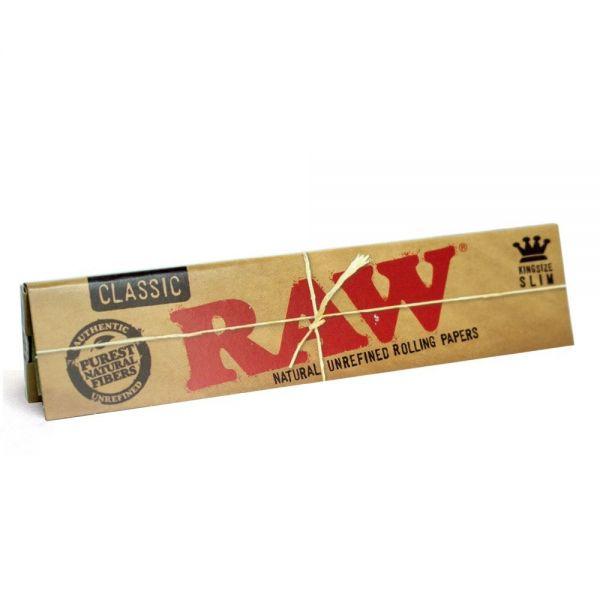 Cartine Raw Classic King Size Slim Lunghe - 1 Libretto