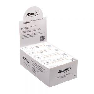 Atomic Filtri Slim in Cartone con Tappi di Ceramica con Carboni Attivi -Box 20 Astucci da 10 Filtri