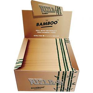 CARTINE RIZLA BAMBOO KING SIZE SLIM LUNGHE - BOX DA 50 LIBRETTI