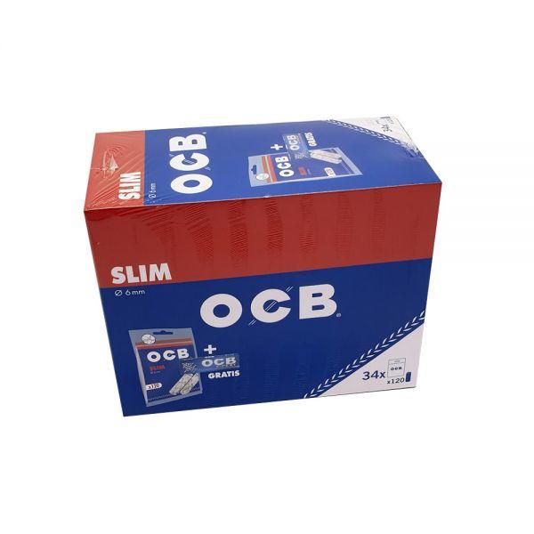 OCB Filtri Slim + OCB X-Pert - Box 34 Sacchetti da 120 filtri + 1 Libretto da 50 Cartine