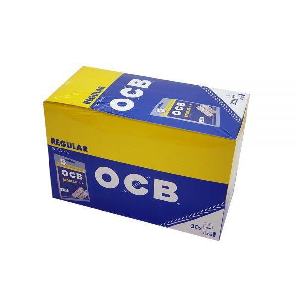 FILTRI OCB REGULAR IN BUSTA 7,5mm BOX - 30 BUSTINE DA 100 FILTRI