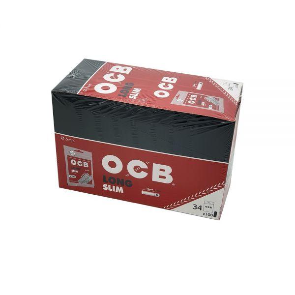 OCB LONG SLIM FILTRI EXTRA LUNGHI - BOX 34 BUSTE DA 100