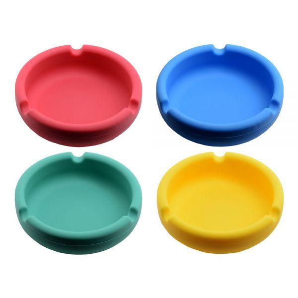 Atomic Posacenere da Tavolo in Silicone Round Colori Assortiti