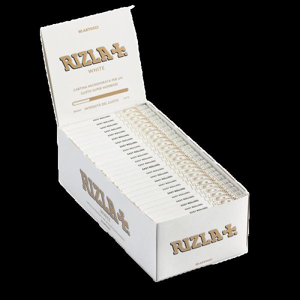 CARTINE RIZLA BIANCHE WHITE CORTE SCATOLA DA 50 LIBRETTI
