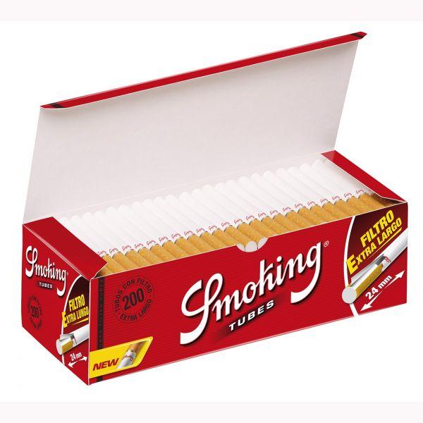 SMOKING TUBETTI CON FILTRO KING SIZE EXTRA LUNGO - BOX DA 200 SIGARETTE VUOTE