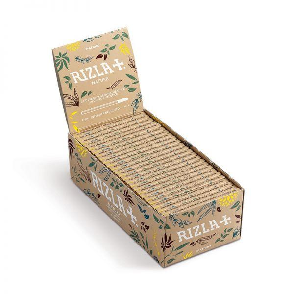 CARTINE RIZLA NATURA CORTE IN CANAPA BOX DA 50 LIBRETTI