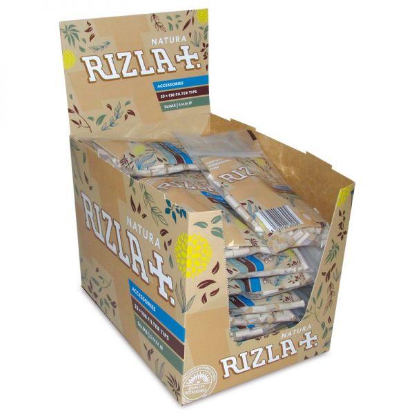 FILTRI RIZLA NATURA SLIM 6MM BIODEGRADABILI - BOX 25 BUSTINE DA 150 FILTRI